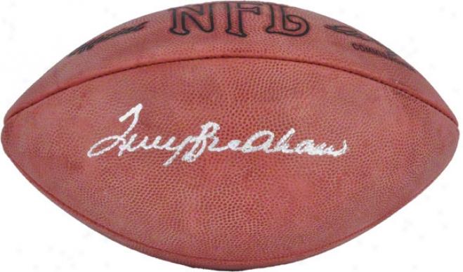Terry Bradshaw Autographed Football  Details: Rozelle Pro Wilson Football