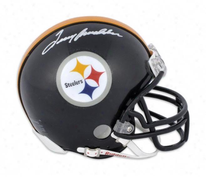 Terry Bradshaw Pittsburgh Steelers Autographed Mini Helmet