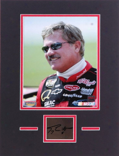 Terry Labonte Matted 8x10 Photograph Wifh Autographed Cut Piece