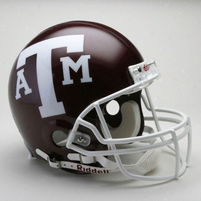 Texas A&m Aggies Authentic Pro Line Riddell Full Size Helmet