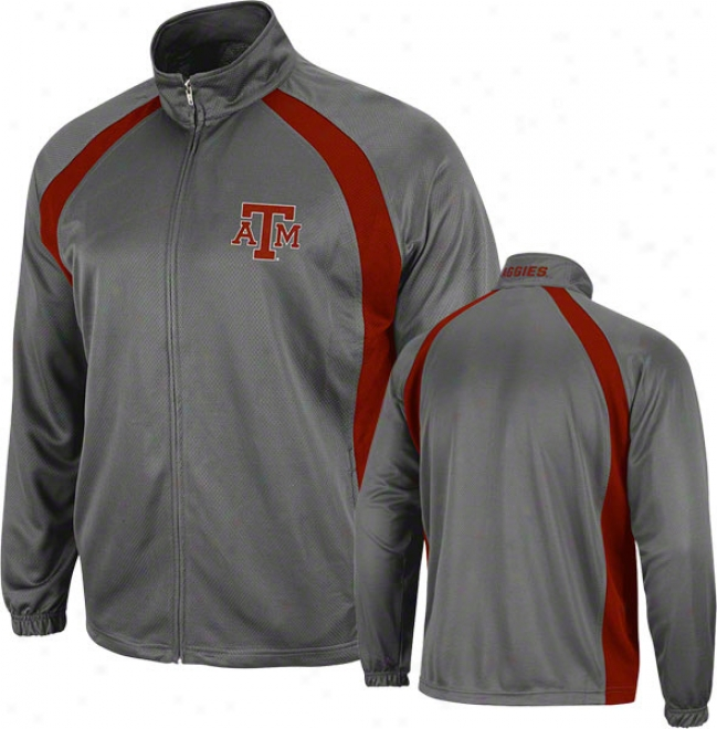 Texas A&m Aggies Charcoal Rival Full-zip Jacket