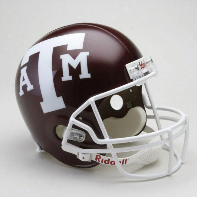 Texas A&m Aggies Deluxe Replica Riddell Helmet