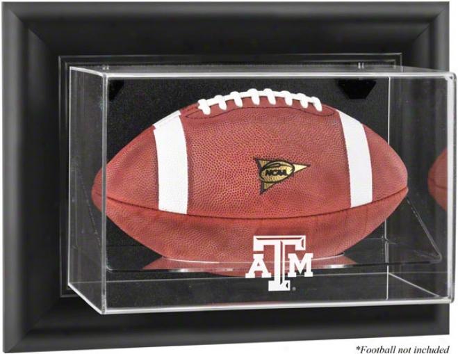 Texas A&m Aggies Framed Wall Mounted Logo Football Exhibition Case