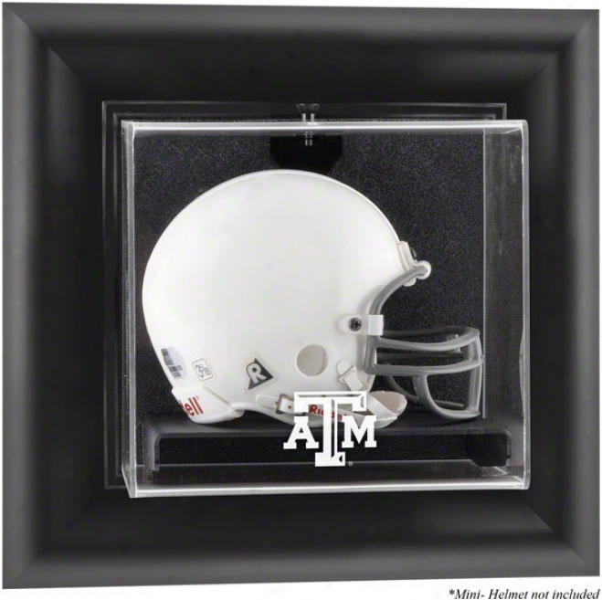 Texas A&m Aggies Framed Wall Mounted Logo Mini Helmet Display Case