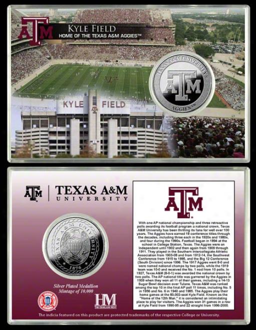 Texas A&m Aggies Kyle Field Silver Coin Card