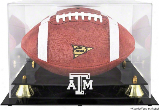 Texas A&m Logo Football Display Case  Details: Golden Clazsic, Mirror Back
