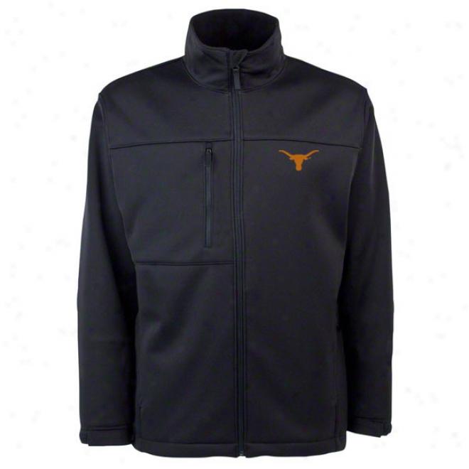 Texas Longhorns Black Traverse Bonded Soft Shell Jacket