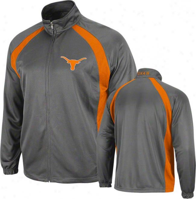 Texas Longhorns Charcoal Rival Full-zip Jerkin