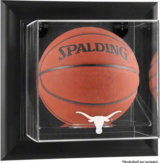 Texas Longhorns Framed Wall Mounted Logo Baskeball Display Case