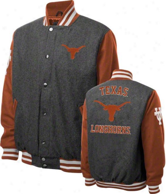 Texas Longhorns Grey Wool Varsity Jaclet
