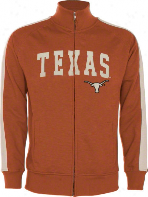 Texas Longhorns Orange Pinnacle Slub French Terry Track Jacket