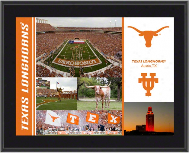 Texas Longhorns Plaque  Details: Sublimated, 10x13, Ncaa Plaque