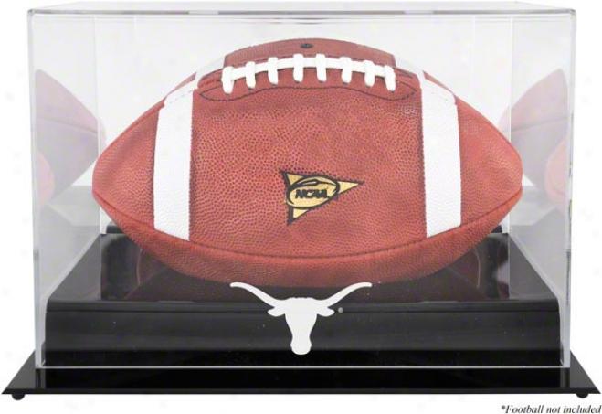 Texas Longhorns Team Logo Fkotball Display Case  Details: Black Base