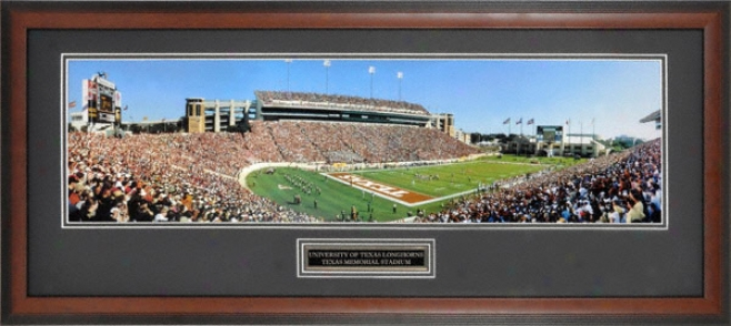 Texas Longhorns Texas Memorial Stadium Framed Panoramic