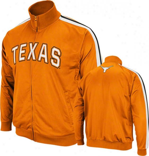 Texas Longhorns Texas Orange Pace Track Jacket
