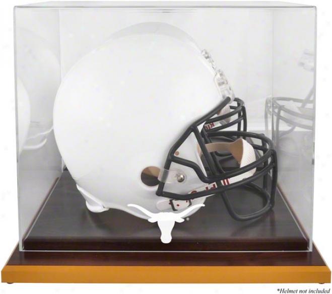 Texas Longhorns Woodbase Logo Helm Display Case