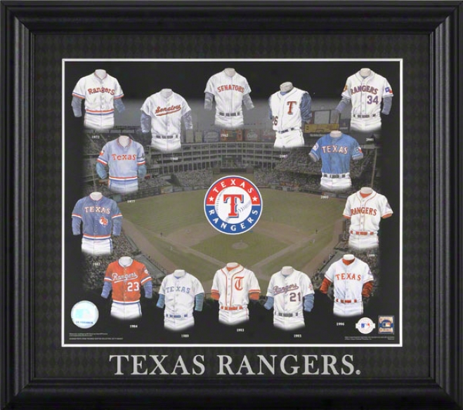 Texas Rangers 13x15 Framed Print  Details: Evolution