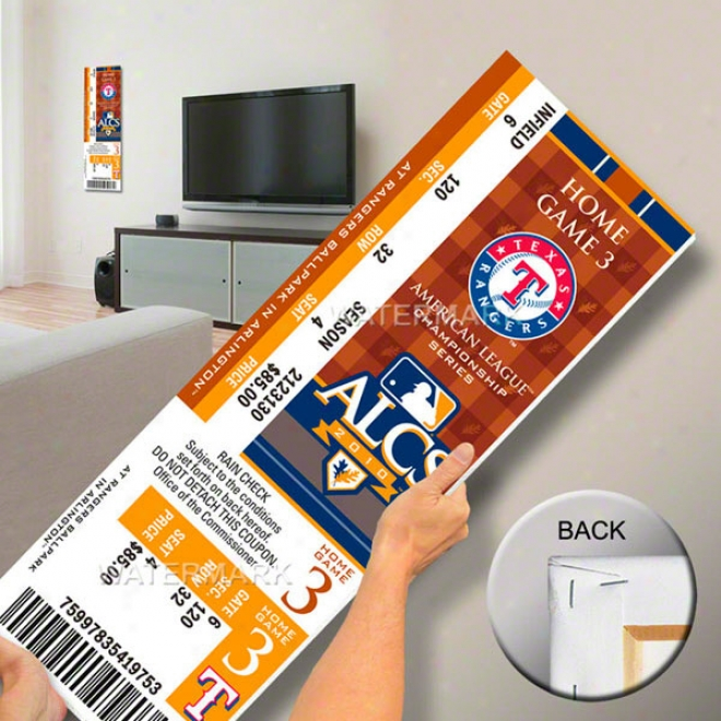 Texas Rangers 2010 Alcs Mega Ticket