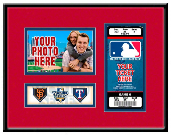 Texas Rangers 2010 Worlld Series Photo & Ticket Frame