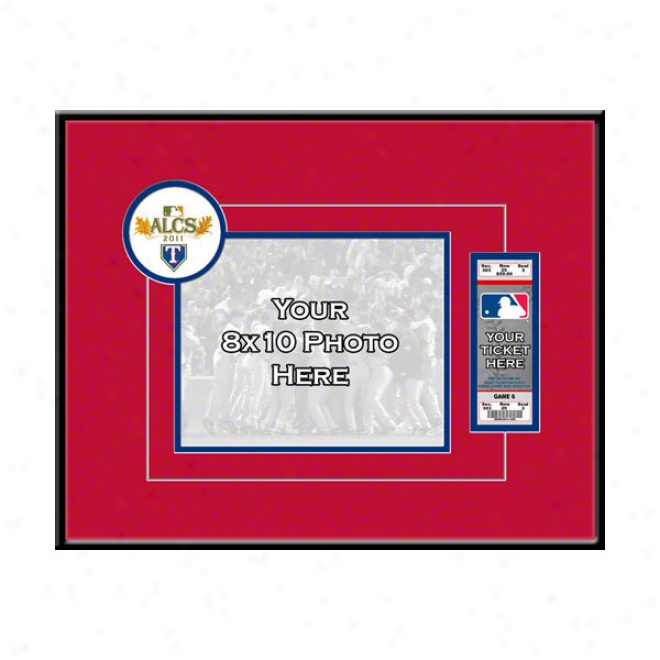 Texas Rangers 2011 American League Championship Your 8x10 Photo Ticket Frame