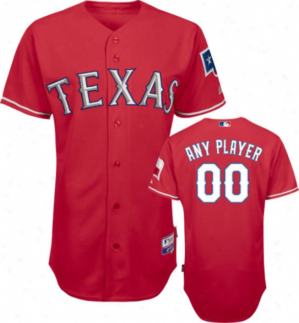 Texas Rangers - A single one  Player - Authentic Grow lukewarm Baseã¢â�žâ¢ Alternate Red On-field Jersey