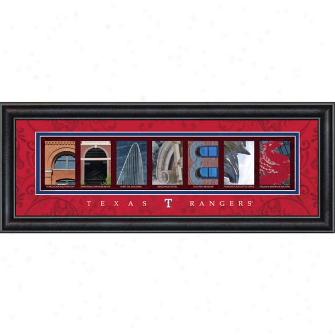 Texas Ranbers Letter Art