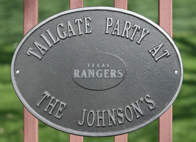 Texas Rangers Pewter And Silver Personalized Indoor/outdoor Plaque
