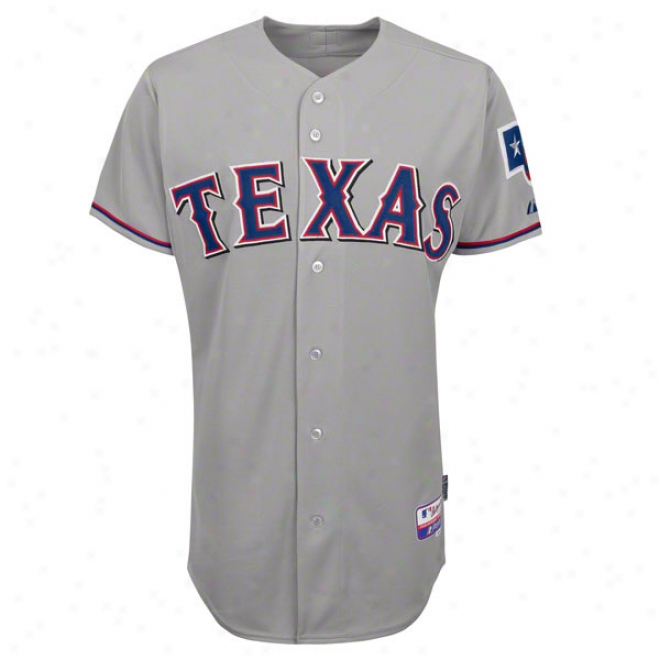 Texas Rangers Road Grey Authentic Cool Baseã¢â�žâ¢ On-field Mlb Jrsey