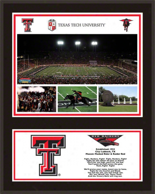 Texas Tech Red Raider Sublimated 12x15 Plaque