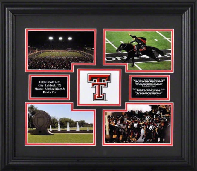 Texas Tech Red Raiders Framed 4-photograph Collage