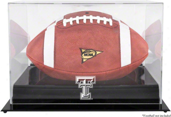 Texas Tech Red Raiders Fteam Logo Football Display Case  Details: Black Base