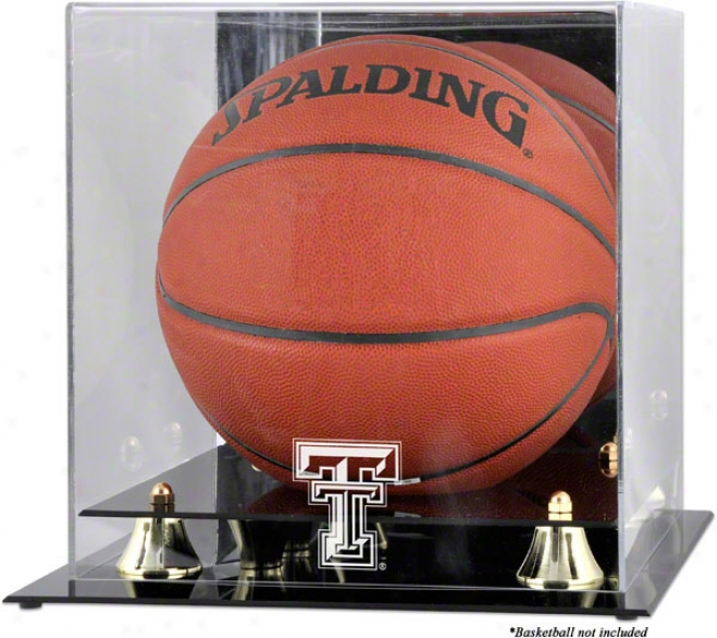 Texas Tech Red Raiders Golden Classic Logo Basketball Display Box