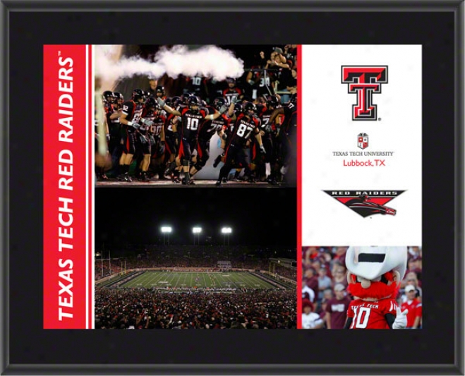 Texas Tech Red Raiders Plaque  Details: Sbulimated, 10x13, Ncaa Flat plate of metal