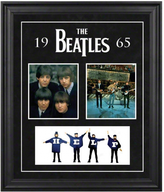 The Beatles 1965 Framed Preen5ation