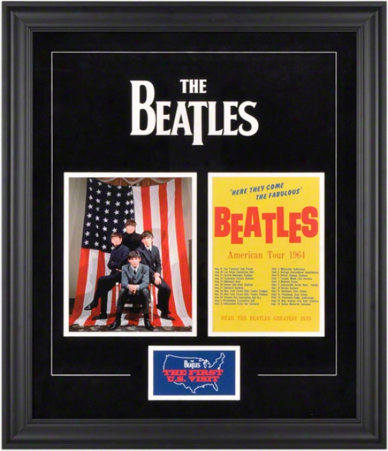 The Beatles Framed Presentation  Details: 1964 U.s. Tour