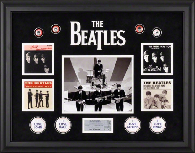 The Beatles Framed Presentation  Details: On The Ed Sullivan Show