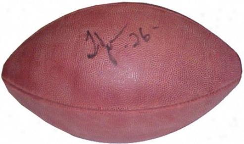 Thomas Jones Autographed Football