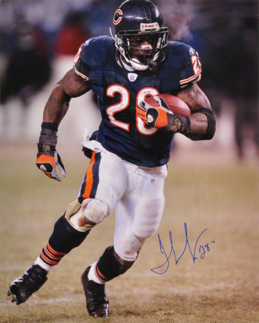 Thomas Jones Chicago Bears Autographed 16x20 Photograph