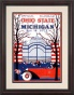 1925 Michigan Wol\/erines Vs. Ohio State Buckeyes 8.5 X 11 Framed Historic Footbalp Print