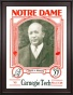 1928 Notre Dame Fighting Irish Vs Carnegie Tech 36 X 48 Framed Canvas Historic Football Poster