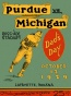 1929 Purdue Vs. Michigan 22 X 30 Canvas Historic Football Print