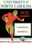 1931 North Carolina Vs. Georgoa 22 X 30 Canvas Historic Football Print
