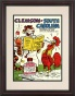 1966 Clemson Vs. South Carolina 8.5 X 11 Framed Historic Football Print