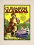 1969 Clemson Vs. Alabama 10.5x14 Matted Historic Foootball Print