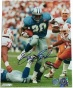 Barry Sanders Detroit Lions Blue Home Jersey 8x10 Autographed Photograph