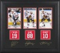 Chicago Blackhawks Framed Photographs  Details: Jonathan Toews, Patrick Kane, Patrick Sharp, Facsimile Signatures, Jersey Back Replica Miniatures