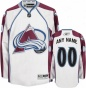 Colorado Avalanche White Premiet Jersey: Customizable Nhl Jersey