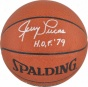 Jerry Lucas Autographed Spalding Indoor/outdoor Basketball W/ &quothof 79&quot Ihscription