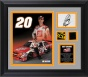 Joey Logano Nascar Rookie Of The Year Framed 8x10 Photograph With Autograph Plate, Tire And Sheet Metal - Le Of 120