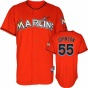 Josh Johnson Jersey: Miami Marlins #55 Alternate Firebrick Authentic Cool Baseã¢â�žâ¢ Jersey